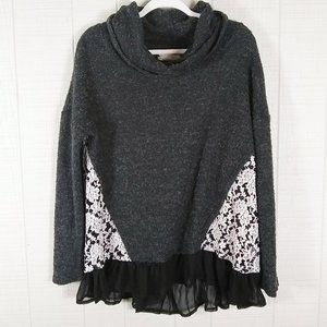 A'reve Boucle Knit Cowl Neck Tunic Top Sweater